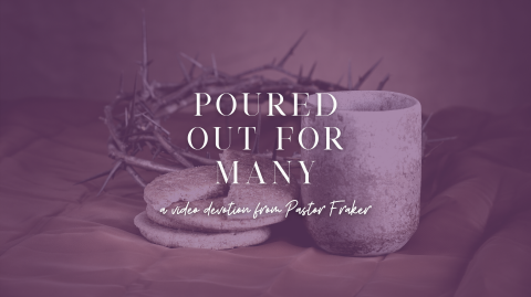Video Devotion: Poured Out for Many